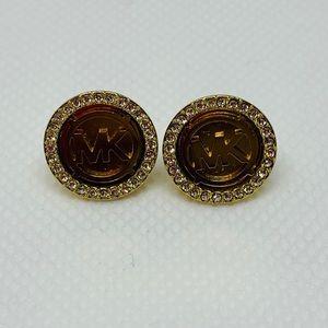 Michael Kors Women's Stud Bling Earrings in Gold
